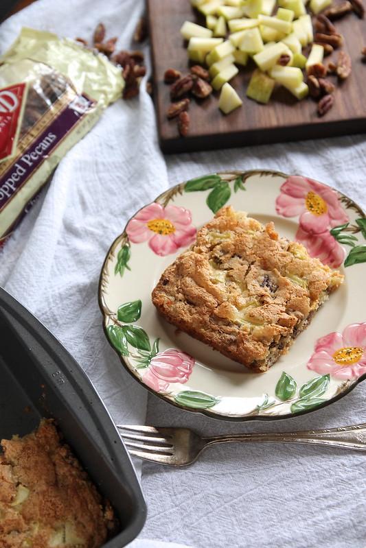 Dutch Apple Cake with Pecans