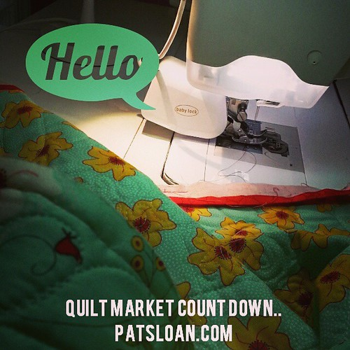 OH YES...Quilt Market count down..let the fun begin! #quilt #quilting #showmethemoda #babylock