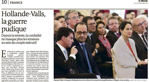 14k06 LMonde Estalla la guerra púdica entre Hollande y Valls