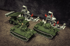 army men(0.0), combat vehicle(1.0), weapon(1.0), vehicle(1.0), tank(1.0), self-propelled artillery(1.0), gun turret(1.0), churchill tank(1.0), scale model(1.0),