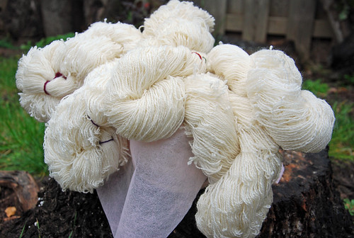 Handspun combed Romney Wool yarn skeins