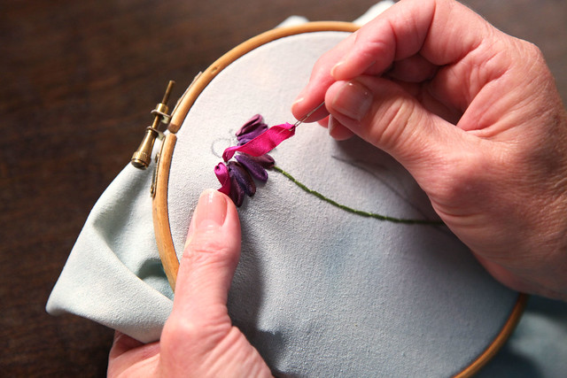 Embroidering with Ribbon