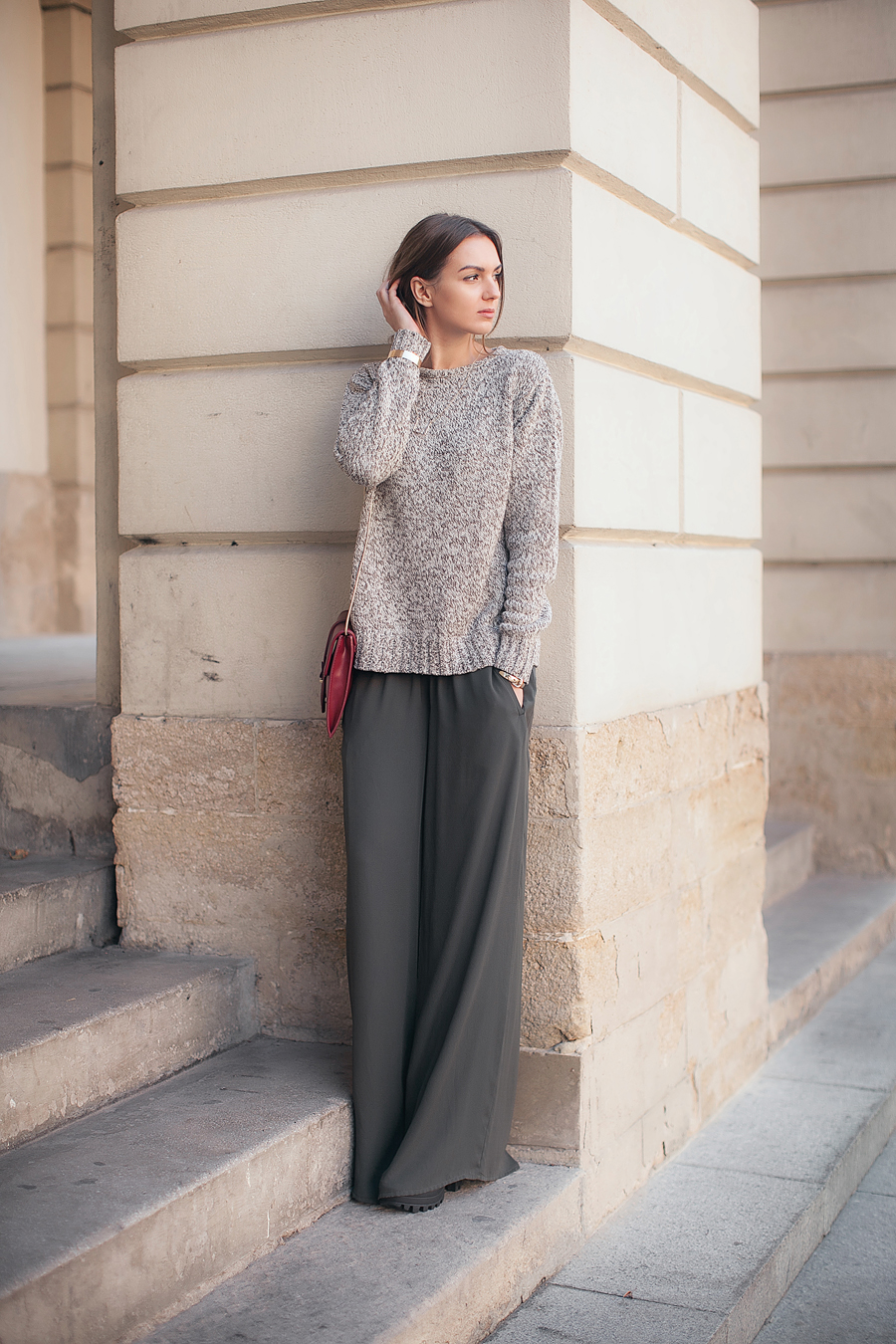 zara-dark-army-green-wide-leg-pants-fashion-blogger-outfit