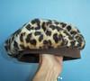 Vintage Faux Leopard-Fur Hat