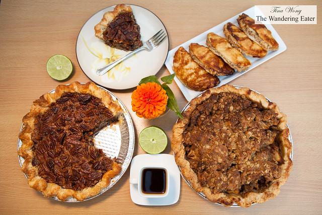 Wonderful fresh pies from Daly Pie (Brooklyn, NY) - Chocolate Bourbon Pecan Pie, Honey Fig & Blue Cheese Hand Pies, Lumberjack Pie