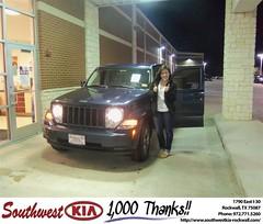 #HappyAnniversary to Joy Robb on your 2008 #Jeep #Liberty from Paula Lovejoy at Southwest KIA Rockwall!