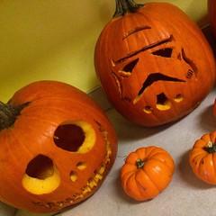The finished product... #stormtrooper #jackskellington #halloween #pumpkin #jackolantern #vscocam