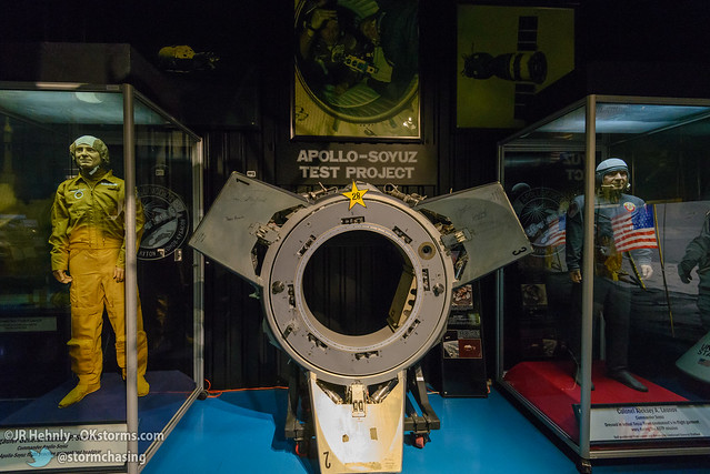 Sun, 10/26/2014 - 15:37 - The Apollo-Soyuz docking apparatus. Stafford commanded the only rendezvous and docking with a Soviet spacecraft. - Stafford Air and Space Museum - October 26, 2014 3:37:59 PM - Weatherford, Oklahoma (35.5447,-98.6700)