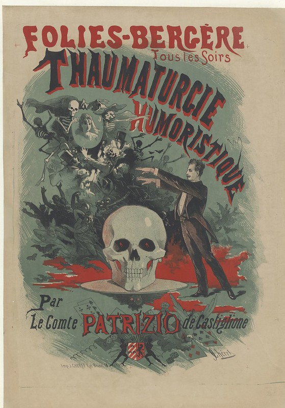 19th cent. french music-hall poster called: Tous les soirs, Thaumaturgie humoristique