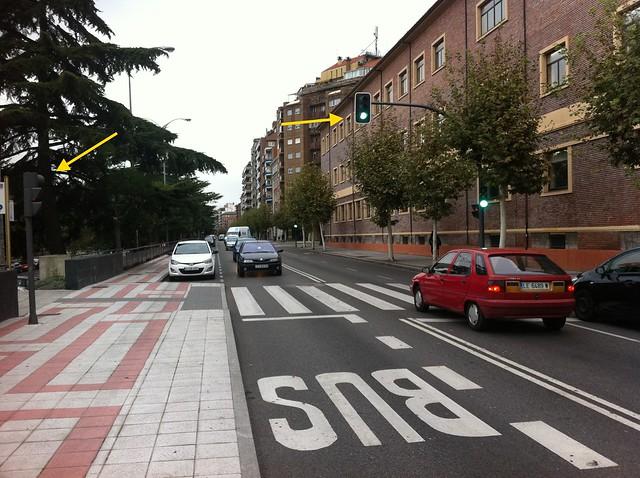 Semaforos sin sentido en León