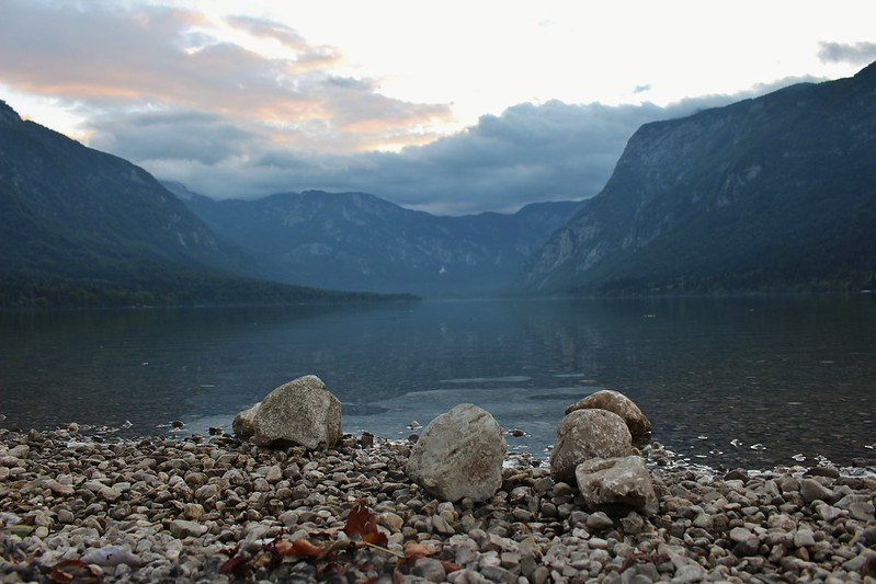 Bohinj lake rocks