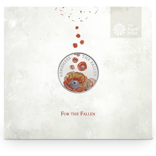 Remember the Fallen poppy coin packaging