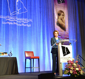 Congresswoman Pelosi addresses the 17th Annual Madam C.J. Walker Awards Luncheon for the National Coalition of 100 Black Women