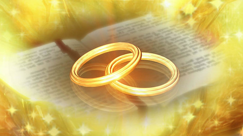 Rings Over Bible Back Looping Animation