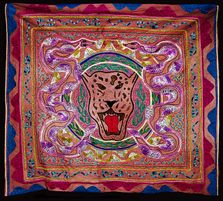 Shipibo_Tapestry_Serpent-Jaguar
