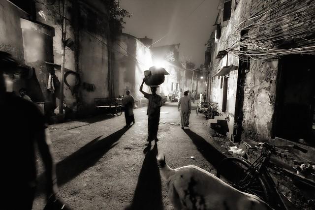 Oniric night scene, Kolkata