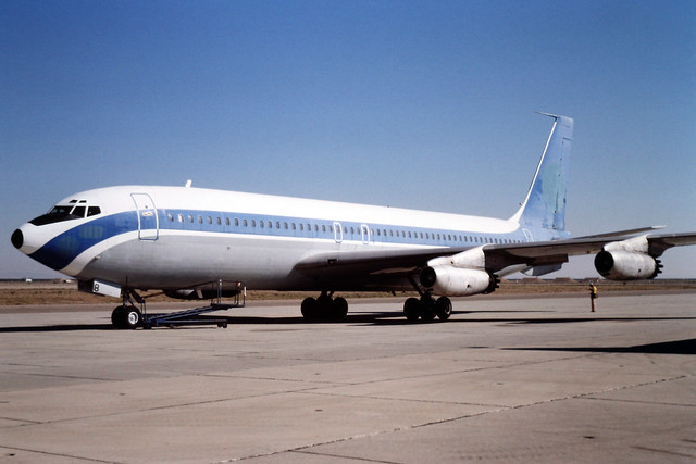 N198CA Boeing 707-131 at Mojave, CA in Oct 1981. Once belonged to TWA