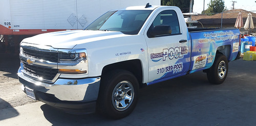 One more Silverado wrapped for the Discount Pool fleet