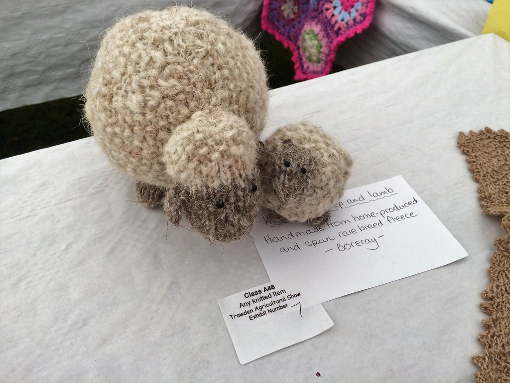 Lynda's knitted Boreray sheep